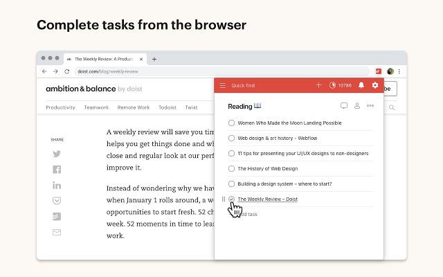 Todoist Chrome Extension